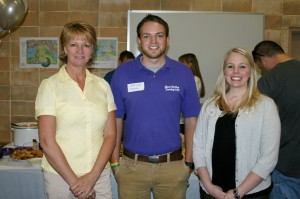 Staff Members (l-r) Telaka Holbrook, Caleb Land and Jennifer Colson